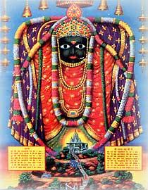 Sri Sharda- Mata ji und ihr  Tempel in Maihar (M. P)