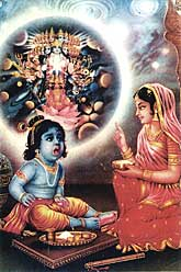 Sri Krishna und Yasoda Mata