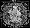 Dattatreya- Yantra, Dreieinigkeit des Gottes Brahma, Vischnu und Schiva